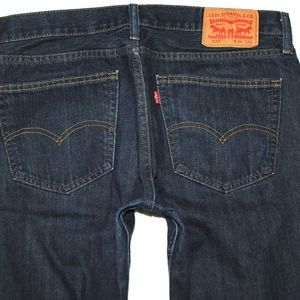 Levi's 527 Slim Boot Cut Zipper Fly Denim Jeans 34